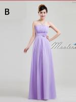 พร้อมเช่า ชุดราตรียาว ชุดเพื่อนเจ้าสาว สีม่วงอ่อน Lavender Lv-002B