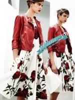 Pre-order ชุดเดรส สีขาว สไตล์กึ่งออกงาน/ ลำลอง พิมพ์ลายกุหลาบ Red rose collection