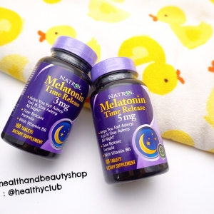 # นอนไม่หลับ # Natrol, Melatonin TR, Time Release, 5 mg, 100 Tablets