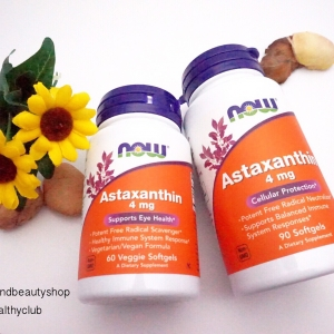 # ผิวสวย # Now Foods, Astaxanthin, 4 mg, 60 Veggie Softgels