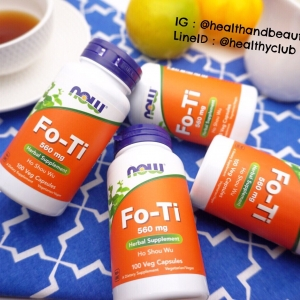 # ผมหงอก # Now Foods, Fo-Ti, Ho Shou Wu, 560 mg, 100 Capsules