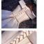 พร้อมเช่า ชุดราตรียาว แบบไหล่ปาด ผ้าซาติน กระโปรงจับจีบ เพิ่มโบว์ช่วงเอว สีครีม (เชือกผูกหลัง) thumbnail 6