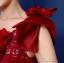 พร้อมเช่า ชุดแฟนซี ชุดราตรียาว สีแดง ไหล่เฉียง ตัวชุดเป็นผ้าแก้ว แต่งดอกสวย ไหล่ซ้ายมีโบว์ เชือกผูกหลัง thumbnail 10