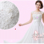 พร้อมเช่า สำหรับสาวไซส์ใหญ่ ชุดราตรียาว สีขาว คอปาด แต่งลูกไม้หรูเซาะดอก ปักลูกปัด thumbnail 10