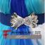 พร้อมเช่า ชุดแฟนซี ชุดราตรียาว สีฟ้า แบบเกาะอก แต่งดอกช่วงอก พร้อมเข็มขัด น่ารักมาก thumbnail 7