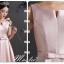 Pre-order ชุดราตรียาว ชุดเพื่อนเจ้าสาว สีชมพู Pastel ผ้าซาตินดูเรียบหรู มี 6 แบบ หลายสไตล์ (เชือกผูกหลัง) thumbnail 8