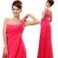 พร้อมเช่า ชุดราตรียาว ไหล่เดียว แบบสวย สีแดง ช่วยพรางหน้าท้อง ปักเลื่อมช่วงรอบคอเสื้อและเอว thumbnail 3