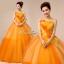 พร้อมเช่า ชุดแฟนซี ชุดราตรี ไหล่เดียว สีส้มแต่งระบายสีเหลือง น่ารัก แต่งโบว์เพิ่มความหวาน thumbnail 11