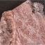 พร้อมส่ง ชุดราตรีสั้น/แขนยาว คอวี เนื้อผ้าลูกไม้ & Cotton แต่งซิปข้าง สีแดง (เหลือเฉพาะไซส์ 3XL) thumbnail 4