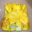 พร้อมเช่า ชุดแฟนซี ชุดราตรี เกาะอก สีเหลือง ลูกไม้ปักทั้งตัว แต่งโบว์ที่เอว (เชือกผูกหลัง) thumbnail 8