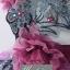 พร้อมเช่า ชุดแฟนซี ชุดราตรียาว ไหล่เฉียง สีฟ้ามิ้นต์ แต่งผ้าโปรงสีม่วง ประดับเลื่อมและดอกไม้ thumbnail 6