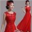 พร้อมเช่า ชุดราตรียาว สีแดง แบบเรียบหรู แต่งลูกไม้เซาะดอก ปักลูกปักมุก thumbnail 1