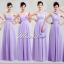 พร้อมเช่า ชุดราตรียาว ชุดเพื่อนเจ้าสาว สีม่วงอ่อน Lavender Lv-002E thumbnail 7