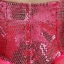 พร้อมเช่า ชุดแฟนซี ชุดราตรี เกาะอก สีชมพู Hot Pink ช่วงอกปักเลื่อมไล่สี แต่งดอกไม้ thumbnail 6