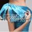 พร้อมส่ง ชุดราตรีสั้น Mini dress ไหล่เดียว สีฟ้า เข้ารูป แต่งโบว์สองชั้น thumbnail 8