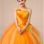พร้อมเช่า ชุดแฟนซี ชุดราตรี ไหล่เดียว สีส้มแต่งระบายสีเหลือง น่ารัก แต่งโบว์เพิ่มความหวาน thumbnail 5