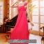 พร้อมเช่า ชุดราตรียาว ไหล่เดียว แบบสวย สีแดง ช่วยพรางหน้าท้อง ปักเลื่อมช่วงรอบคอเสื้อและเอว thumbnail 4