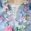 พร้อมเช่า ชุดแฟนซี ชุดราตรียาว สีฟ้า แขนยาว แต่งดอก Fairy สไตล์เจ้าหญิง กระโปรงพองสวย เชือกผูกหลัง thumbnail 8