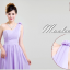 พร้อมเช่า ชุุดราตรียาว ชุดเพื่อนเจ้าสาว สีม่วงอ่อน Lavender Lv-002D thumbnail 3