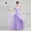 พร้อมเช่า ชุดราตรียาว แขนกุด ชุดเพื่อนเจ้าสาว สีม่วงอ่อน Lavender Lv-002A thumbnail 1