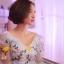 พร้อมเช่า ชุดแฟนซีสั้น สีฟ้า แขนยาว แต่งดอก Fairy สไตล์เจ้าหญิง กระโปรงพองสวยชายย้วย เชือกผูกหลัง thumbnail 12