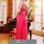 พร้อมเช่า ชุดราตรียาว ไหล่เดียว แบบสวย สีแดง ช่วยพรางหน้าท้อง ปักเลื่อมช่วงรอบคอเสื้อและเอว thumbnail 5