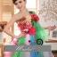 พร้อมเช่า ชุดแฟนซี เช่า 500 ชุดราตรีสั้น ดอกไม้หลากสี กระโปรงสายรุ้ง thumbnail 2