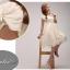 พร้อมส่ง ชุดราตรีสั้น สีขาว แขนตุ๊กตามีโบว์ ผ้าชีฟอง แบบสวยหวาน เพิ่มดอกช่วงเอว thumbnail 7