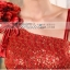 พร้อมเช่า ชุดราตรียาว ไหล่เฉียง สีโอโรส ปักเลื่อมไล่สี ประดับดอกไม้บนไหล่2ดอก จับจีบแต่งโบว์ช่วงเอว thumbnail 8