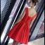 พร้อมส่ง ชุดราตรีสั้น แบบแขนกุด ผ้าซาตินเรียบหรู กระโปรงทรงA แต่งโบว์2ชั้น ช่วงเอว สีแดง (เชือกผูกหลัง) thumbnail 17