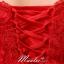 พร้อมเช่า ชุดราตรีสั้น สีแดง ลูกไม้ทัั้งตัว เปิดไหล่ แขนสามส่วน เข้ารูปสวย thumbnail 11