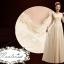 Pre-order ชุดราตรียาว ชุดเพื่อนเจ้าสาว สีครีม แนวสวยหวานแบบคุณหนู ลูกไม้ กระโปรงผ้าชีฟอง thumbnail 5