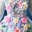 พร้อมเช่า ชุดแฟนซี ชุดราตรียาว สีฟ้า แขนยาว แต่งดอก Fairy สไตล์เจ้าหญิง กระโปรงพองสวย เชือกผูกหลัง thumbnail 5