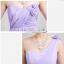 พร้อมเช่า ชุดราตรียาว ชุดเพื่อนเจ้าสาว สีม่วงอ่อน Lavender Lv-002E thumbnail 5