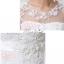 พร้อมเช่า สำหรับสาวไซส์ใหญ่ ชุดราตรียาว สีขาว คอปาด แต่งลูกไม้หรูเซาะดอก ปักลูกปัด thumbnail 15