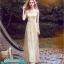 พร้อมส่ง ชุดราตรียาว แขนยาว กากเพชรระยิบระยับ สีทอง แนว Gatsby (ซิปหลัง) thumbnail 2