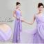 พร้อมเช่า ชุดราตรียาว แขนกุด ชุดเพื่อนเจ้าสาว สีม่วงอ่อน Lavender Lv-002A thumbnail 2