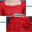 พร้อมส่ง ชุดราตรียาว สีชมพูโอโรส ลูกไม้ฉลุ แต่งระบายช่วยพรางหน้าท้อง พร้อมเข็มกลัดดอกไม้ช่วงเอว แขนสามส่วน กระโปรงผ้าชีฟอง 2XL- 6XL (เชือกผูกหลัง) ** ดูสีจริงภาพล่างสุด ** thumbnail 3