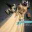 พร้อมเช่า ชุดราตรียาว แขนกุด สีทอง แต่งเกล็ดสีทอง พร้อมมุก ระยิบระยับ เนื้อผ้าตาข่าย มาพร้อมเข็มขัดรูปใบไม้สีทองเข้าชุด (ซิปหลัง) thumbnail 23