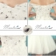 พร้อมเช่า ชุดราตรีสั้น แบบปาดไหล่ แต่งผ้าโปร่งปักดิ้นเงิน อกแต่งลายลูกไม้พร้อมปักเลื่อมหรู สีขาว (เชือกผูกหลัง) thumbnail 12