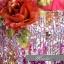 พร้อมเช่า ชุดแฟนซี ชุดราตรี เกาะอก สีชมพู Hot Pink ช่วงอกปักเลื่อมไล่สี แต่งดอกไม้ thumbnail 5