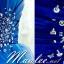 พร้อมส่ง ชุดราตรีสั้น เกาะอก จับจีบแต่งลูกปัด กระโปรงผ้าแก้ว สีน้ำเงิน thumbnail 6