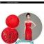 พร้อมเช่า ชุดราตรียาว แบบเกาะอก สีแดง ลูกไม้ทั้งชุด ทรงหางปลา (ซิปหลัง) thumbnail 7