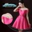 พร้อมส่ง ชุดราตรีสั้น แบบปาดไหล่ ผ้าซาตินเรียบหรู กระโปรงทรงA แต่งโบว์2ชั้น ช่วงเอว สีชมพู Hot pink (เชือกผูกหลัง) thumbnail 6