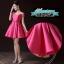 พร้อมส่ง ชุดราตรีสั้น แบบปาดไหล่ ผ้าซาตินเรียบหรู กระโปรงทรงA แต่งโบว์2ชั้น ช่วงเอว สีชมพู Hot pink (เชือกผูกหลัง) thumbnail 7