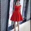 พร้อมส่ง ชุดราตรีสั้น แบบแขนกุด ผ้าซาตินเรียบหรู กระโปรงทรงA แต่งโบว์2ชั้น ช่วงเอว สีแดง (เชือกผูกหลัง) thumbnail 14