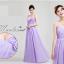 พร้อมเช่า ชุดราตรียาว ชุดเพื่อนเจ้าสาว สีม่วงอ่อน Lavender Lv-002C thumbnail 3
