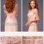 พร้อมเช่า ชุดราตรียาว สีชมพู แขนยาว แบบเรียบหรู แต่งลูกไม้เซาะดอก ปักลูกปัดมุก thumbnail 11