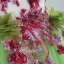 พร้อมเช่า ชุดแฟนซี ชุดราตรียาว สีเขียวอ่อน Cherry Blossom แต่งระบายสีชมพู ปักเลื่อมละเอียด thumbnail 6