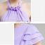 พร้อมเช่า ชุดราตรียาว ชุดเพื่อนเจ้าสาว สีม่วงอ่อน Lavender Lv-002E thumbnail 6